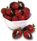 Aardbeien en fonteinchocolade